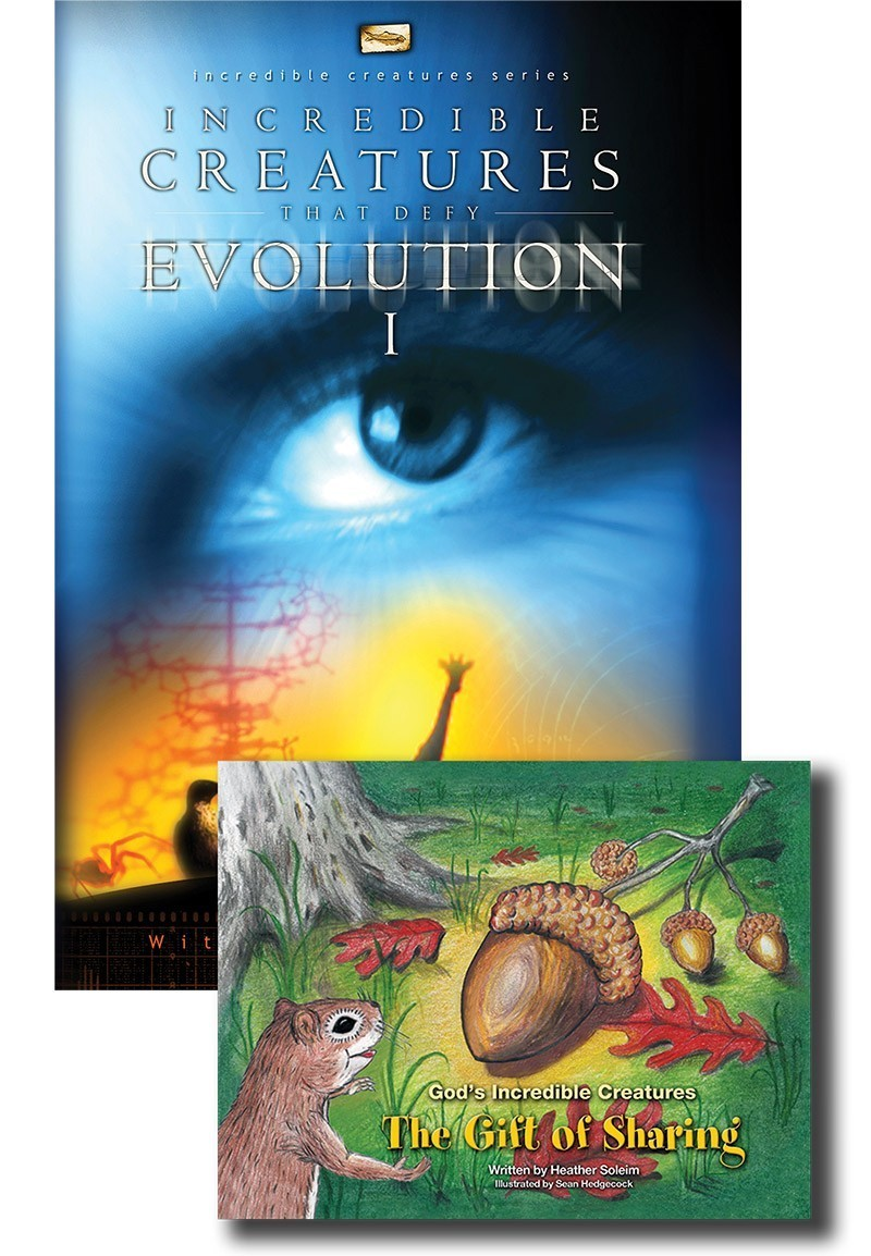 VALUE PACK: Incredible Creatures I DVD & The Gift of Sharing Book